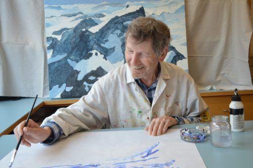 Der Montafoner Künstler Michael Sahler stellt im Vorarlberg Museum ein Bild vom Litznersattel aus. Caritas Vorarlberg
