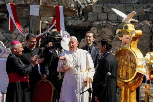 Der Papst beendete seine Irak-Reise mit einer Messe.REUTERS