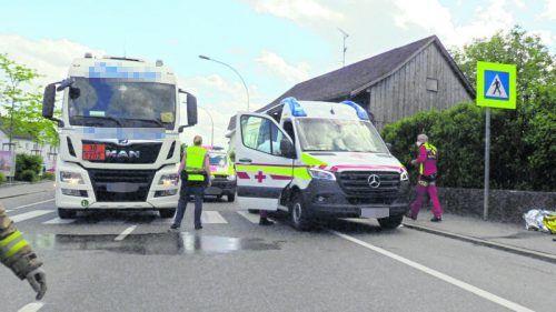 Der tödliche Unfall in Lustenau im Mai 2020 hatte für den Lkw-Fahrer nun ein Nachspiel am Bezirksgericht Dornbirn zur Folge. SCREENSHOT