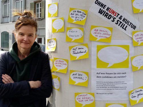 """Die Autorin und Theatermacherin Brigitta Soraperra eröffnet am Sonntagvormittag die Gesprächsreihe """"Wieder sprechen"""" im TaS.Theater am Saumarkt (2)"""