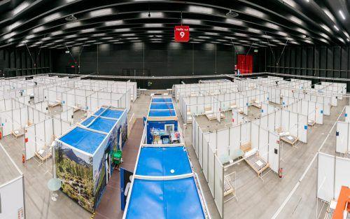 Für das Notversorgungszentrum wurden vier Hallen angemietet.vn/stiplovsek