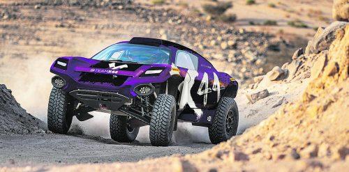 Die Extreme E fährt mit Einheitsautos, die 680 Pferdestärken hergeben und in 4,5 Sekunden auf 100 km/h beschleunigen.exe