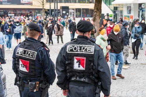 Die Gewaltkriminalität ging um 5,1 Prozent zurück. Bei Gewalthandlungen gegen Polizeibeamte gab es allerding 43,6 Prozent mehr Anzeigen.VN/Stiplovsek