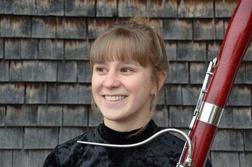 Die junge Fagottistin Johanna Bilgeri tritt demnächst in Bregenz auf. bilgeri