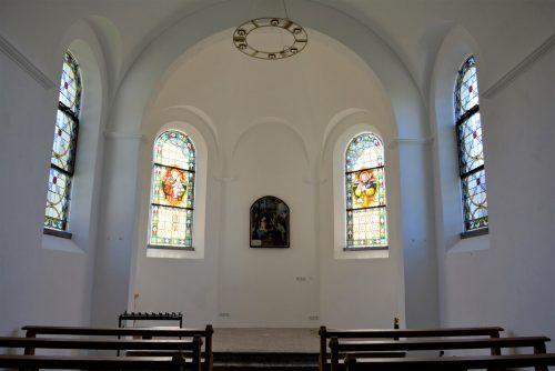 Die Kapelle Vorderachmühle zeigt sich nun auch innen in neuem Glanz und steht kurz vor Fertigstellung.EH (3)