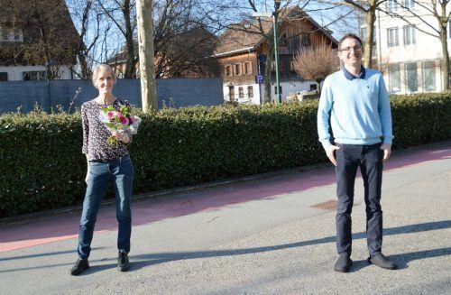 Die neue Pflegedienstleiterin Eva Maria van Rooijen und Sozialzentrum-Geschäftsführer Christoph Sutter.Gemeinde