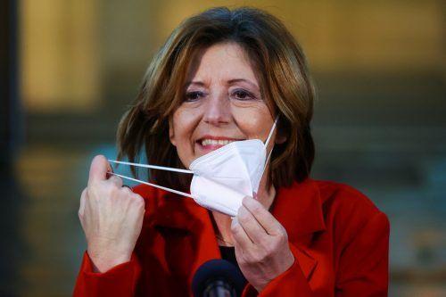Die SPD von Ministerpräsidentin Malu Dreyer hat in Rheinland-Pfalz die Nase vorne. reuters