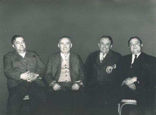 Die Unternehmensgründer: Rudolf, Wilhelm, Ludwig und Ernst Grabher. 11er