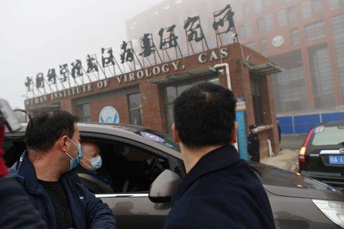 Die WHO-Experten waren Anfang des Jahres in Wuhan. AFP