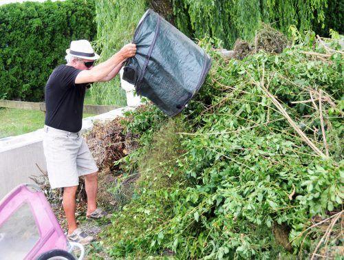 Die wieder aufgelassene Grünmüllstation im Erlach kostete Hard rund 25.000 Euro.