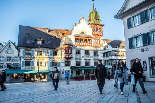 Dornbirn ist die größte Einkaufsstadt Vorarlbergs, allerdings kämpft die Stadt mit immer mehr Leerstand. VN/Hartinger