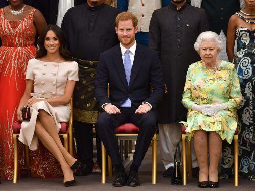 Ein Bild aus harmonischeren Tagen. Nun droht das TV-Interview von Meghan und Harry die britische Königsfamilie zu zerreißen. afp