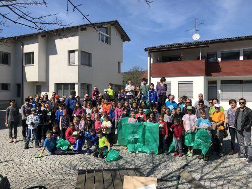 Ein Gruppenfoto wie 2019 in Schlins wird in diesem Jahr nicht möglich sein. Die Flurreinigung allerdings schon.Gemeinde Schlins