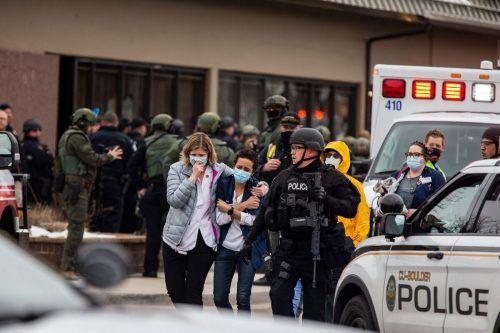 Ein Mann hat in Boulder zehn Menschen in einem Supermarkt erschossen. AFP