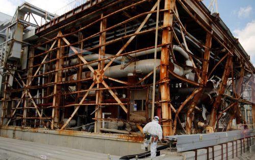 Einer der zerstörten Reaktoren.