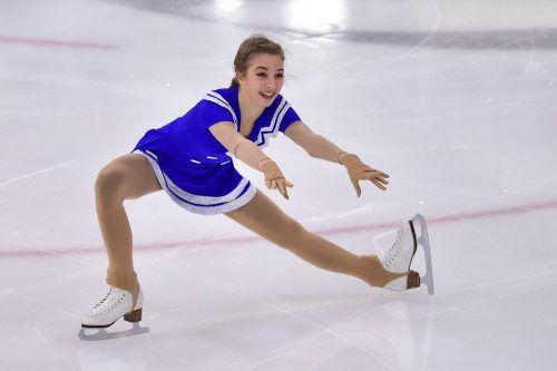Elegant und ausdrucksvoll: Olga Mikutina gibt in Stockholm ihre WM-Premiere.gepa