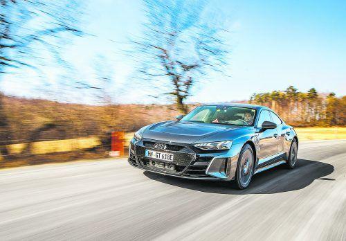 Elektrische Hochleistungslimousine und Tesla-Alternative: Der Audi e-tron GT kann seine Power praktisch unbegrenzt oft abrufen.