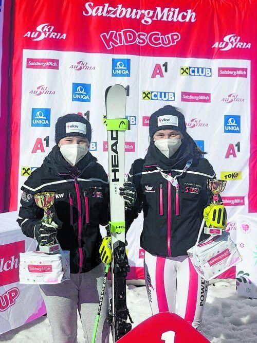 Elisabeth Walch und Antonia Muxel sorgten für zwei Vorarlberger Medaillen.MS
