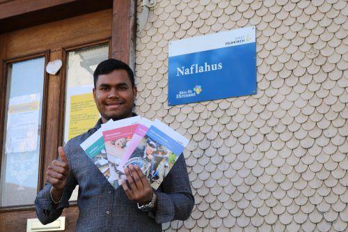 Fiaz Ahmed aus Bangladesch/Feldkirch ist einer der Ehrenamtlichen, die sich im Naflahus engagieren. Stadt