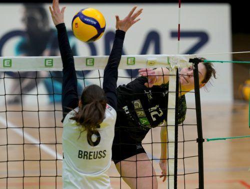 Ursula Ehrhart war gegen Spanien mit zwölf Punkten zweitbeste ÖVV-Scorerin.GEPA