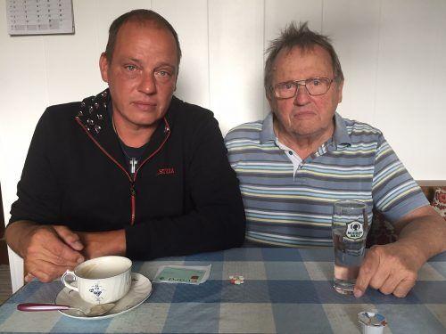 Genug vom Diebstahl: Markus Gartner mit Vater Werner. VN/GS
