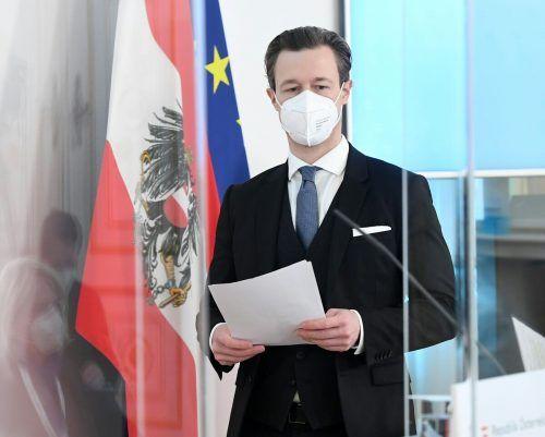 Finanzminister Gernot Blümel legte Bilanz über das Coronajahr.APA