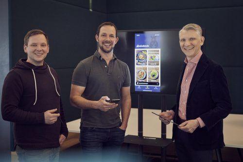 Florian Aul, Dieter Pichler und Bernd Hepberger haben gemeinsam an der App gefeilt. Sie soll nun auch lizenziert vermarktet werden. Marcel Mayer
