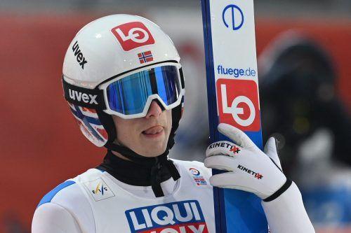Für Skisprungstar Granerud ist die WM in Oberstdorf vorzeitig beendet. AFP
