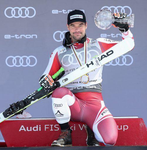 Für Vincent Kriechmayr lief die Skisaison bestens. Nach Doppel-Gold bei der Weltmeisterschaft in Cortina sicherte sich der Oberösterreicher auch die Kristallkugel im Super-G.gepa