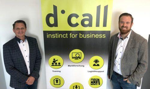 Geschäftsführer Florian Maurer (l.) und Stellvertreter Patrick Garber.dicall