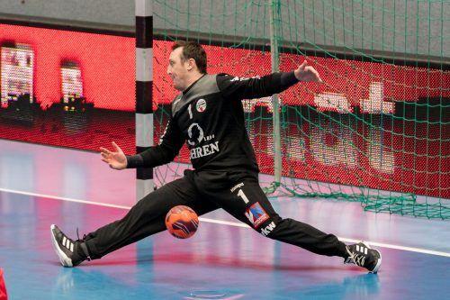 Mit dem Alpla HC Hard hat Goalie Thomas Hurich bislang je einen Meistertitel und Cupsieg geholt und feierte drei Triumphe im ÖHB-Supercup.VN/STiplovsek