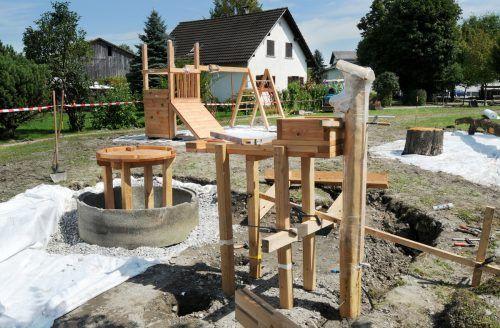 Höchst investiert immer wieder in die Kinderbetreuung wie beispielsweise beim Spielplatz Kindergarten Unterdorf. AJK