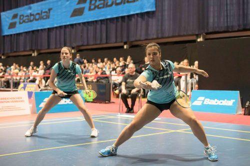 Im Nationalteam gemeinsam im Doppel, in der Bundesliga Gegnerinnen: Feldkirchs Serena Au Yeong und Wolfurt-Leihspielerin Katharina Hochmeir.ÖBV
