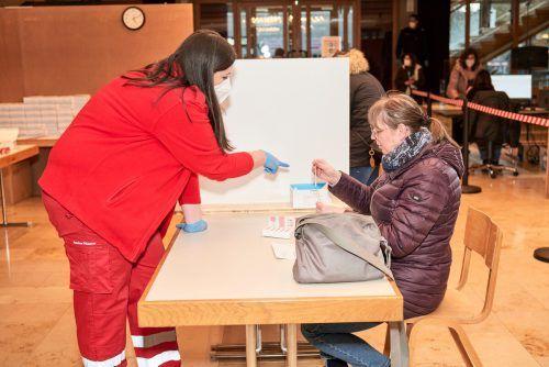 Im Reichshofsaal kann man auch im April testen.Gemeinde