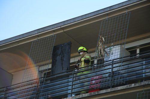 Im vierten Obergeschoss eines Mehrparteienhauses in Dornbirn kam es zu einem Brand. VOL.AT/PLETSCH