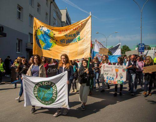 Immer wieder demonstrieren Schüler für eine bessere Zukunft.vn/paulitsch