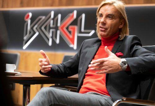 Ischgls Tourismusdirektor Andreas Steibl informiert über das Saisonende. APA