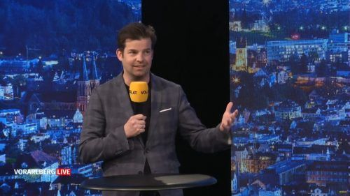 IV-Geschäftsführer Burtscher im Studio. VN