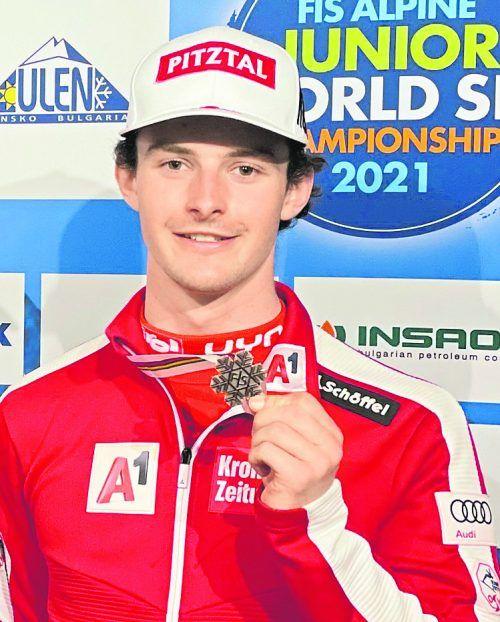 Joshua Sturm sorgte mit Bronze für die dritte ÖSV-Medaille bei den Junioren. ÖSV