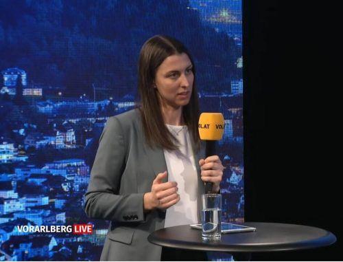 """Julia Grahammer, Leiterin der Initiative Startupland, war zu Gast im Studio von """"Vorarlberg live."""""""