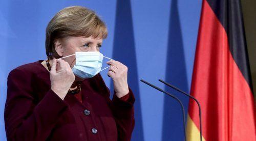 Kanzlerin Merkel befürchtet eine Überlastung des Gesundheitswesens. AFP