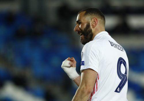 Karim Benzema legte den Grundstein für Real Madrids Weiterkommen.Reuters