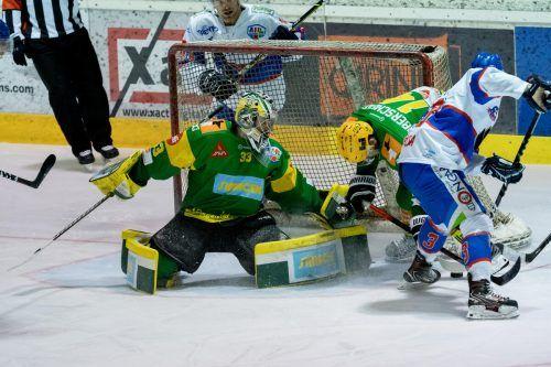 Lukas Reihs und der EHC Lustenau müssen für eine Verbesserung in der Tabelle gegen Asiago gewinnen.Stiplovsek