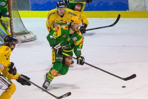 Lustenau-Stürmer Chris D'Alvise muss in Bruneck seine Scorerqualitäten unter Beweis stellen.steurer