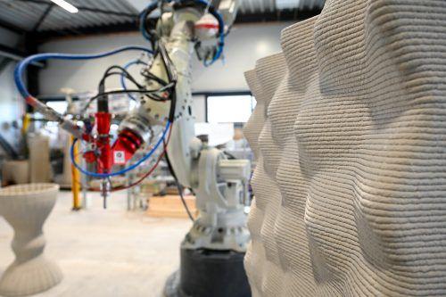 Mit 3-D-Betondruck lassen sich komplexe Geometrien realisieren – individuell und in Serie.Udo Mittelberger
