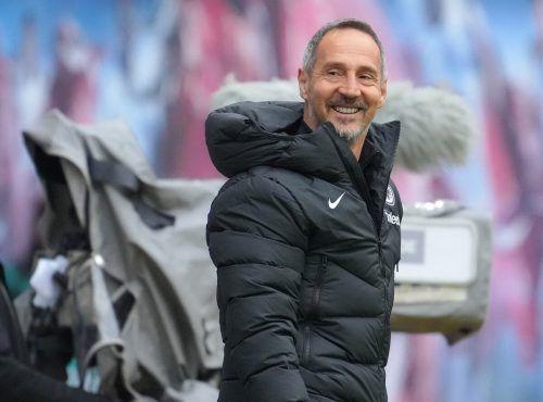 Mit einem Erfolgserlebnis kann Adi Hütter in die Länderspielpause gehen.gepa