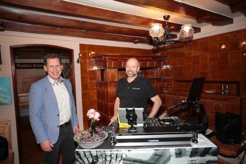 Moderator Bernhard Heinzle und DJ Klaus.