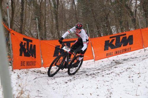 Mountainbiker Julius Scherrer startete mit einem dritten Rang in die Saison.Privat