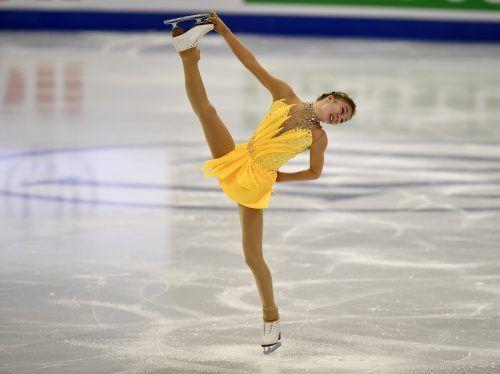 Olga Mikutina lieferte bei der Eiskunstlauf-WM in Stockholm mit Platz acht aus österreichischer Sicht eine Sensation ab und holte sich das Ticket für Olympia 2022 in Peking.gepa