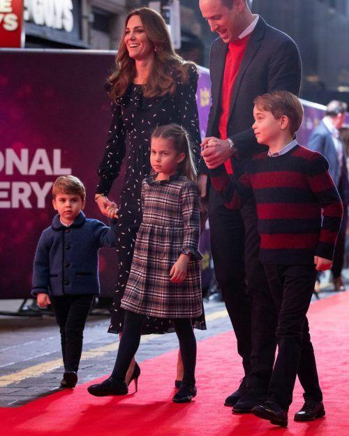 Prinz Louis, Prinzessin Charlotte und Prinz George denken an ihre Oma.Reuters